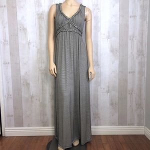 Excellent Max Studio Striped Braided Maxi Dress, S